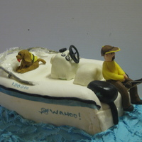 Grooms Cake Replica Of His Fishing Boat