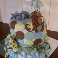 Jungle Cake I made this for my cousins christening. All fondant