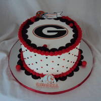 Georgia Bulldogs Edible Images. BC icing. Fondant decorations.