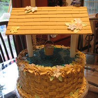 Wishing Well Birthday Cake I made for my mom