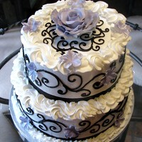 Purple Passion Wedding Cake Purple and Black wedding cake