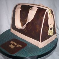 Lv Purse Cake Classic vanilla cake with caramel buttercream covered in fondant. This is the second purse cake I've done, the first one with so much...