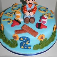 Another Bob Cake!! all fondant figures and decorations.