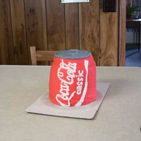 Coke Can   This was for my mom's birthday, she loves Coca Cola! It didn't make the 1 1/2 hour ride well : (