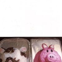 Cow And Pig these cakes were made for my daughters firt birthday