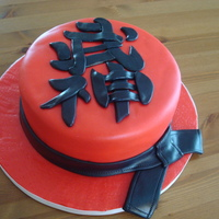 Black Belt Cake This cake was made to celebrate a very nice young man and his recent accomplishment of being awarded his black belt in Taijitsu (japanese...