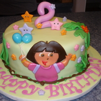 Dora 2Nd Birthday This cake was made for my daughters 2nd birthday. She is very much in love with Dora right now. Inspiration from several cakes here on CC,...