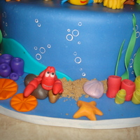 Ariel-Under The Sea This is the cake I made for my daughter's 4th birthday party. I did my first cake for her birthday last year and since about February...