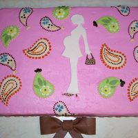 Paisley Baby Shower I was given a plate with paisleys to copy and make it a baby shower cake. The mother-to-be loved the cake. I did the paisleys out of...