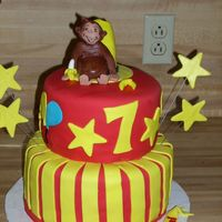 Curious George This was for a 7 year little girls birthday party. I used homemade MMF the cake was chocolate with cream cheese icing. This was my third...