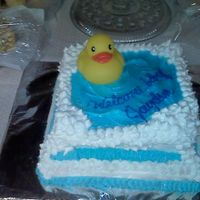 Rubber Duck Baby Shower Cake My 1st baby shower cake. Of course I got the design from so many of the beautiful right here on the website. Overall, I'm pretty...