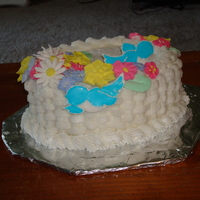 Wilton Course 2 Cake  Course 2 cake with the basketweave, royal icing flowers and blue birds. I had a lot of fun doing the royal icing flowers and really love...