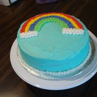 First Wilton Class 1 Cake   My first cake Wilton course one cake, the rainbow cake.