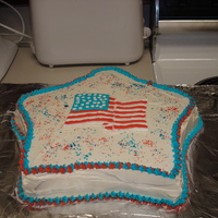 4Th Of July Cake Vanilla flavored cake with vanilla buttercream icing and filling. The flag is all royal icing. The inside of the cake is three different,...