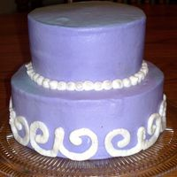 Mom's Birthday Cake   This is my first attempt to pipe a design and not using a stencil. All components are buttercream.