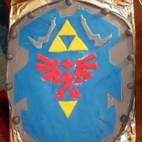 Legend Of Zelda   Buttercream frosting with fondant decals.