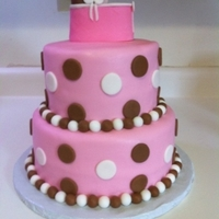 Girl Baby Shower Cake Hello everyone,This is a vanilla cake with chocolate filling and MMF. Thanks for looking. :-)