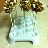 Cake Pops Hi,These are vanilla cake dipped in chocolate. I added peanuts and marshmallows. This was my first time using the Babycakes cake pop maker...