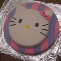 Hello Kitty Cake This is a cake I made for a friend's daughter's Hello Kitty party. Basically it's two cakes covered in fondant. I drew the...