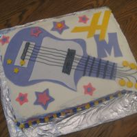 Hannah Montana Birthday Cake  I made a Hannah Montana themed birthday cake for a friend's daughter. I didn't want to use a picture of Hannah Montana so I stuck...