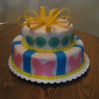 First Birthday Cake For Girl   This is the first cake I made for a friend's daughter's birthday