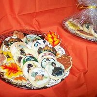 Thanksging Cookies Sugar cookies with edible images for Thanksgiving