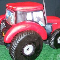 Case Ih Backside   The wheels and fenders are rice krispie treats.