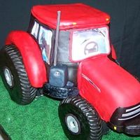 Case Ih Tractor Front The fenders and wheels are made out of rice krispie treats. There is a wooden frame holding it up, as it is very heavy. It is about 10...