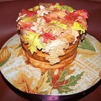 Leaves In A Basket All fondant