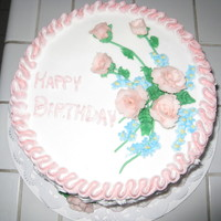 Birthday This was my first cake for my class. Decorated with bc icing...Thank you for viewing