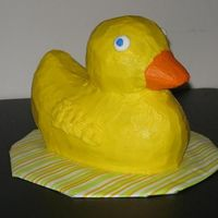 Rubber Ducky This was my sons first birthday 'smash cake'. It's a mandarin orange cake (his favorite food) with buttercream icing. He...