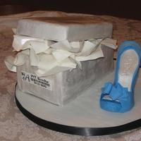 Stiletto With Shoebox This cake was made for a surprise 30th birthday. The recipient was known for wearing this specific stiletto.
