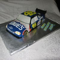 Jimmie Johnson Nascar Cake This was for a client who loves Jimmie Johnson. The challenge on this was they wanted cream cheese icing...so, that's what I did! All...