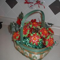 Poinsettia Cupcake Bouquet Poinsettia cupcake bouquet I made for my grandson's school office ladies. Yellow cupcakes with cream filling and buttercream...