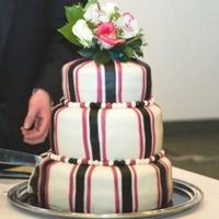 Striped Wedding Cake I made this wedding cake at Christmastime for my friends wedding. I was 3 months pregnant at the time and was struggling with morning...
