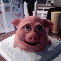 When Pigs Fly A bride was told by her fiance that when pigs fly they can get married. Once they set the date the bride requested this cake for her groom...