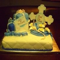 First Birthday / Baptism Cake This is one of my favorites! It came out exactly as I had planned