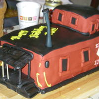 Erie Lackawana Caboose Erie Lackawana caboose cake for my father