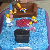 Simpsons Cake A replica of the Simpsons living room, as shown in the opening credits to every episode. TV and sofa are covered in fondant, and cake is...