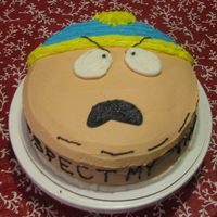 "Eric Cartman South Park Cake Pretty self explanatory - very easy to decorate. Wording on side says, ""Respect my 'tho tay!"" (authority) which is the..."