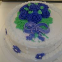 Wilton Course 1 Finale Cake My last cake for Wilton Course 1. You can see pink by the bow because I attempted to write something and it smeared so I had a mini...