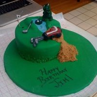 Golf Cake Golf themed cake. The frog is laughing at you bc the golf ball landed on the lilly pad! The sand is made out of brown sugar, water from...