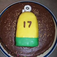Scuba 17Th Birthday  This is a round cake with a smaller cake molded into a tank on top. The cakes are both yellow cakes with chocolate whipped frosting. The...