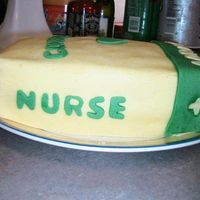 Nurse Book 2   This is a side angle of my sister's cake. I love her and wanted to do something fun for her graduation.