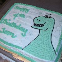 Dinosaur  This is a 1/2 sheet cake, no template. Made this up after my other cake idea turned into a disaster. I loved this one, though. And my...