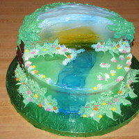 Jungle Cake Jungle Birthday cake for a Jungle Gym pary.