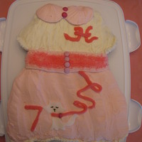 Poodle Skirt Cupcake Cake My 7 year old's cake to share with her classmates.