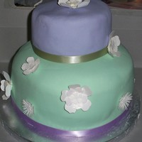 First Baby Shower Cake   Designed around the Princess and the From Color Theme
