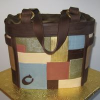Coach Patchwork Purse An anniversary present from my uncle to his wife. Two cakes (Red Velvet & Strawberries & Cream) stacked, carved, and covered with...