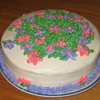 Flowers Floweres & More Flowers Chocolate cake with chocloate instant pudding filling,